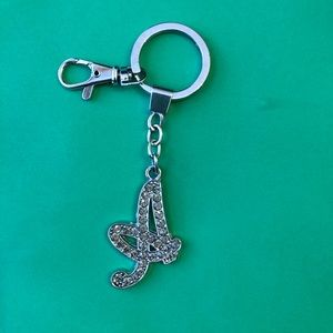 A initial bling keychain